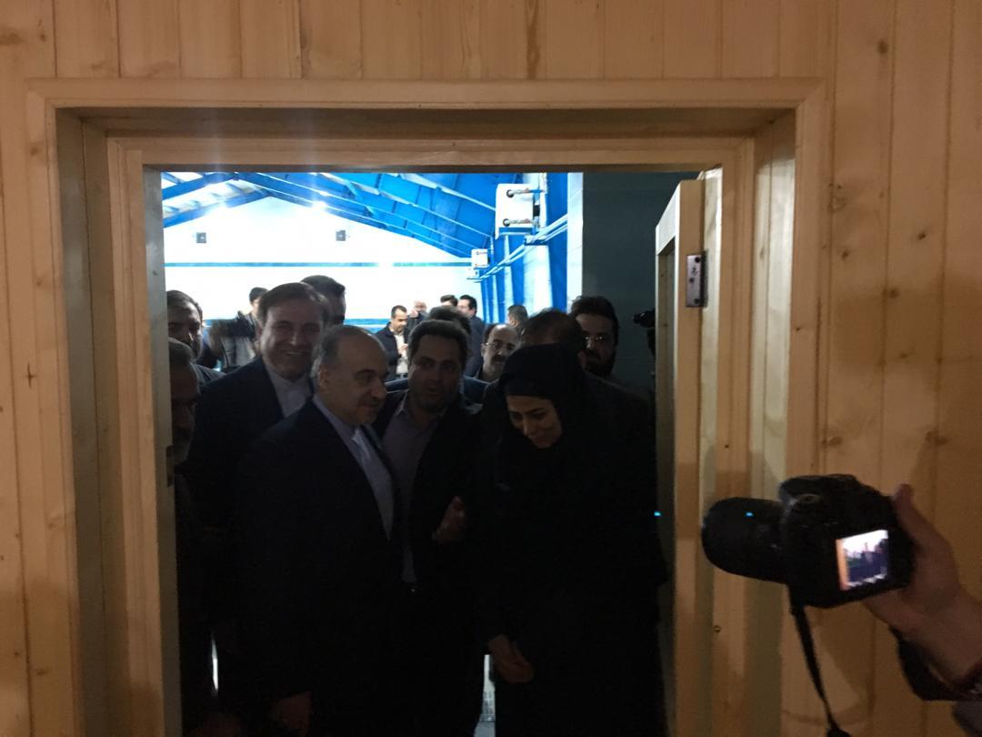 افتتاح استخر شنا رودبار با حضور وزیر ورزش و جوانان