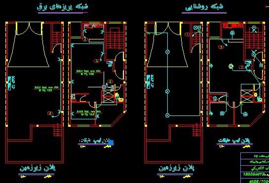 نقشه کشی و نقشه خوانی برق ساختمان