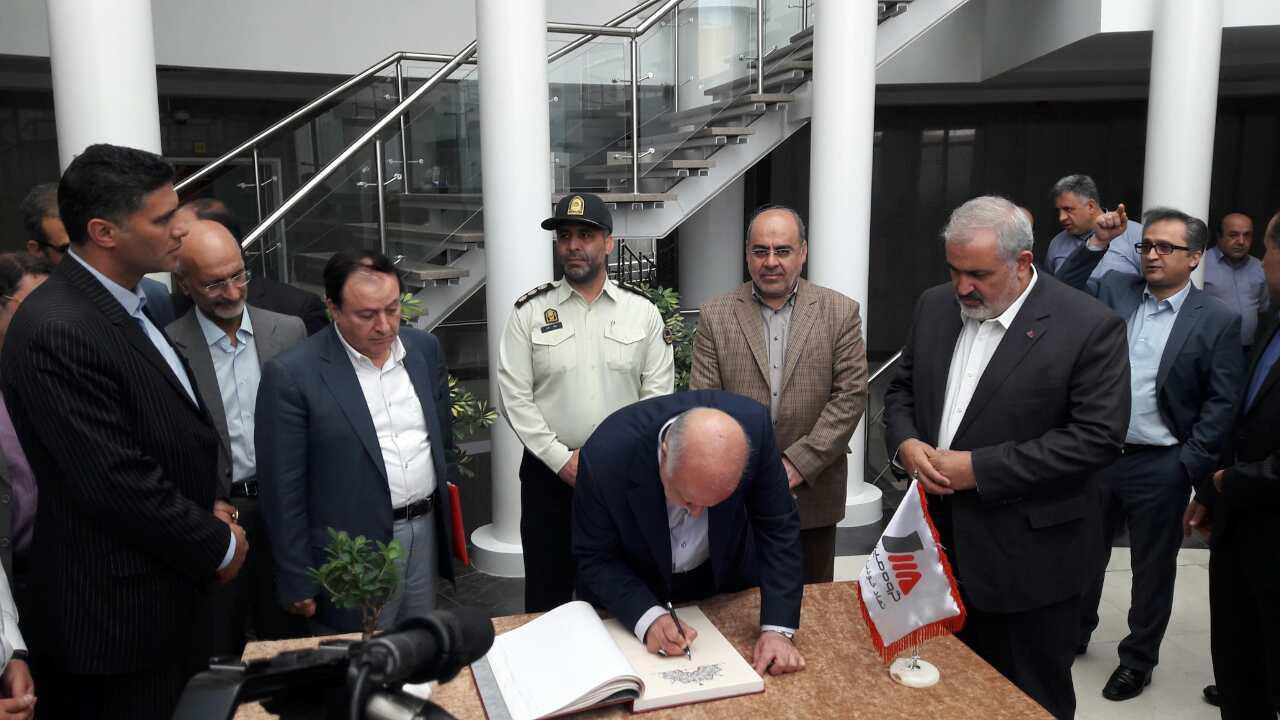 زنگنه وزیر نفت کارخانه توگا شرکت مپنا