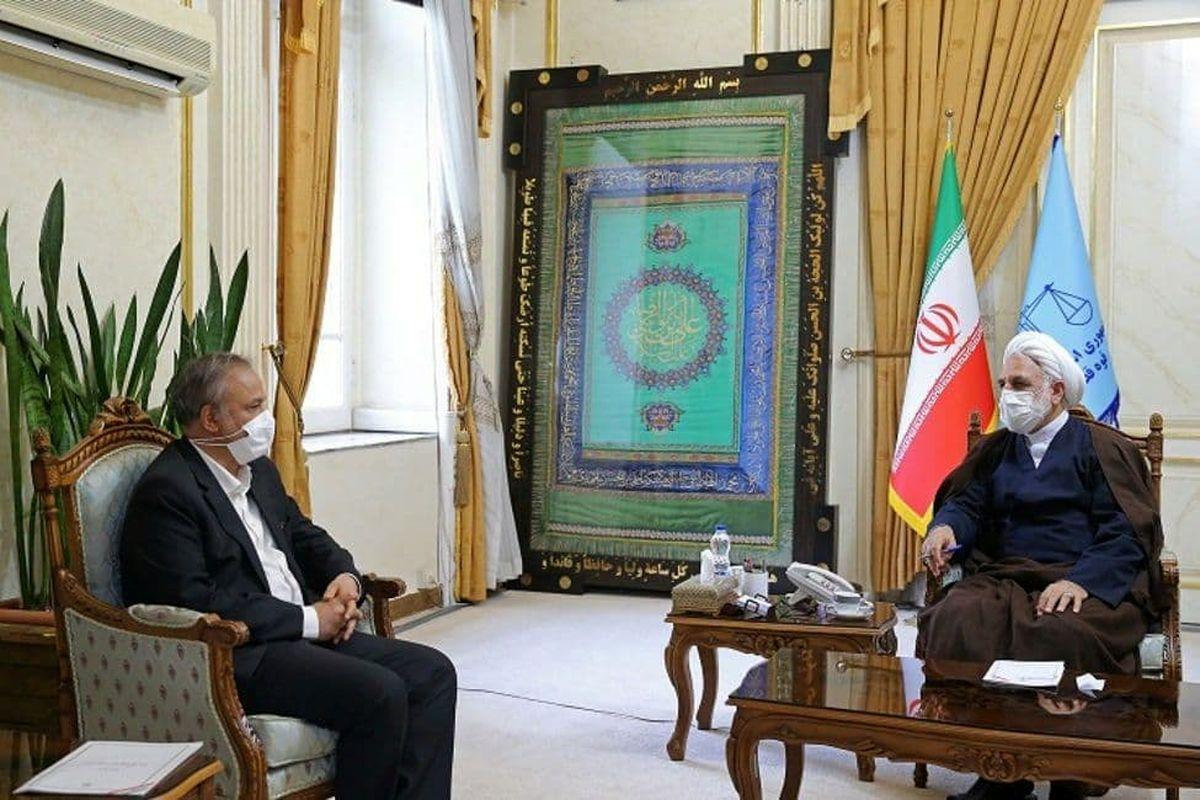 وزیر صمت با رئیس قوه قضاییه دیدار کرد