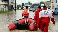 نجات سه فرد گرفتار در سیلاب