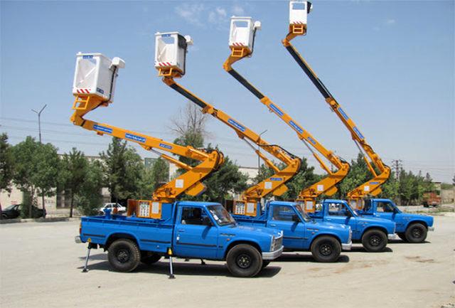 تجهیز ناوگان خودرویی شرکت توزیع نیروی برق کردستان