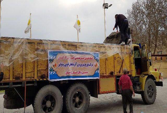 اعزام اولین محموله کمک های غیرنقدی کارکنان شرکت توزیع نیروی برق آذربایجانغربی به استان لرستان