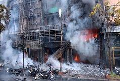 13 کشته در آتش سوزی در یک مجتمع مسکونی