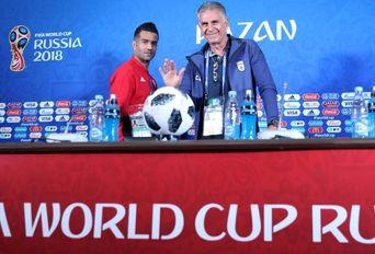 نشست خبری کارلوس کیروش و مسعود شجاعی قبل از بازی با اسپانیا