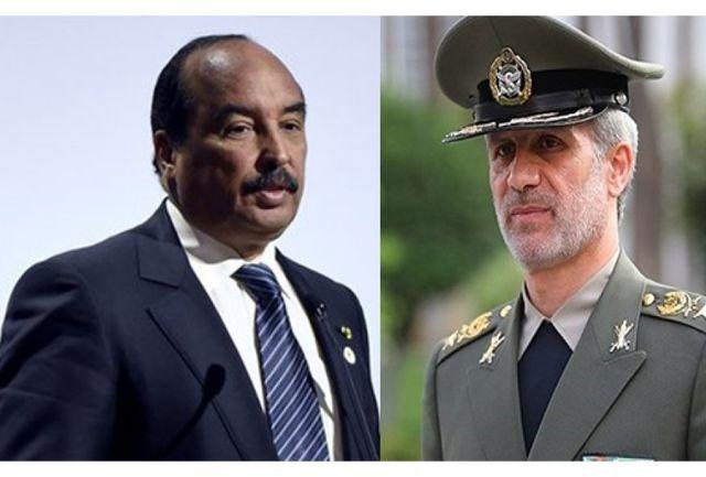 وزیر دفاع ایران با رئیس جمهور موریتانی دیدار کرد