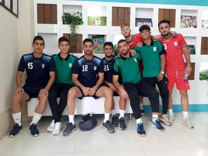 دیدار بازیکنان تیمهای ملی بزرگسالان و امید در پک