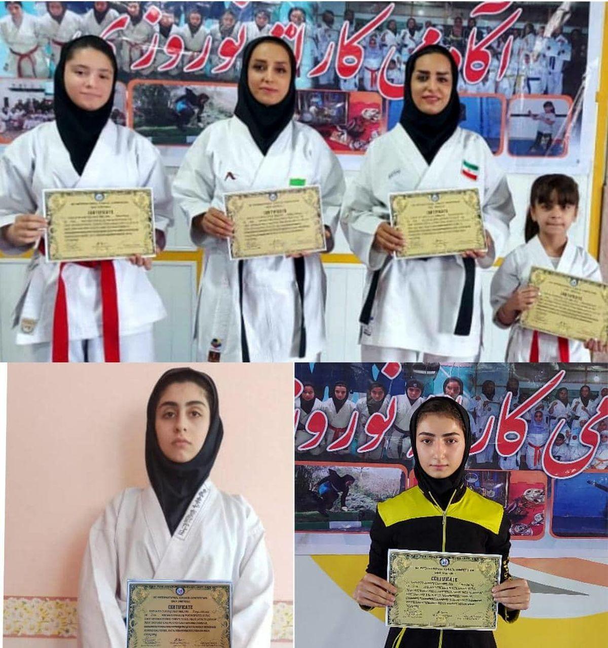 درخشش کاراته کاران دختر تبریزی در مسابقات بین المللی کاراته سبک lSKO