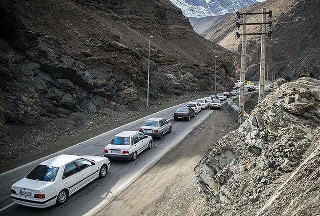 جزییات محدودیت ترافیکی در جاده کرج - چالوس