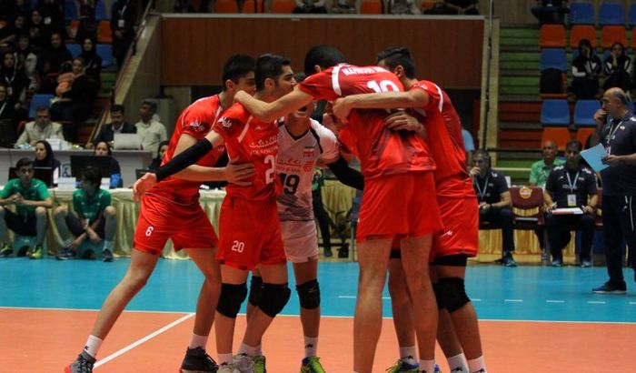 برتری تیم والیبال نوجوانان ایران مقابل مصر
