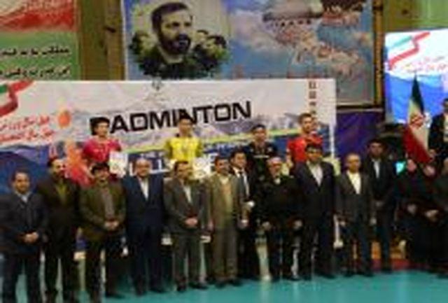 بیست و هشتمین دوره مسابقات بدمینتون بین المللی جام فجر در البرز پایان یافت