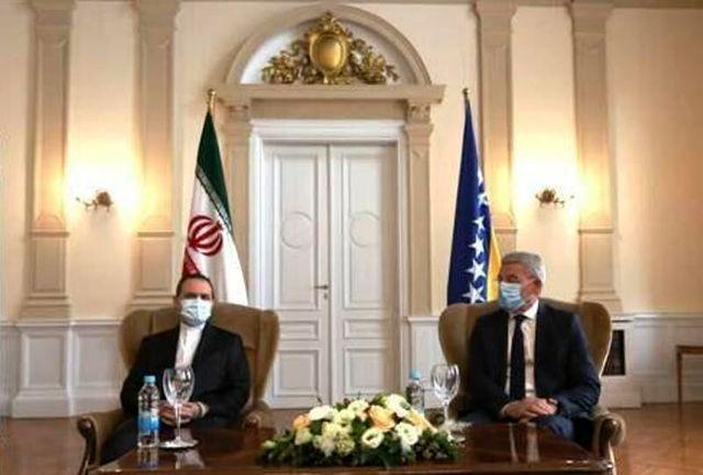 ایران از ثبات و همزیستی مسالمت آمیز همه اقوام بوسنی و هرزگوین حمایت میکند