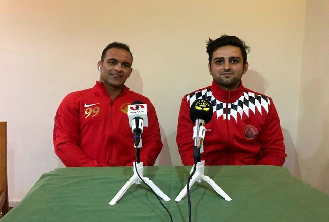 کنفرانس خبری مدیر و مربی  ایرانی تیم فوتبال ساحلی رئال مونستر آلمان