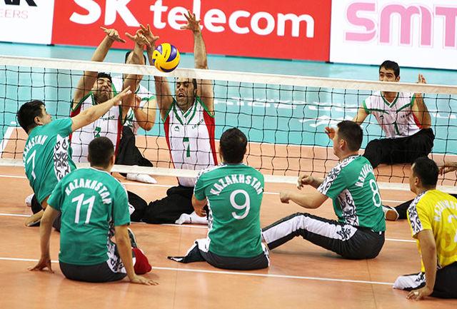 هت تریک تیم ملی والیبال نشسته ایران مقابل ژرمن ها