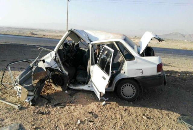واژگونی خودرو در جاده تایباد به باخرز منجر به مرگ دو تن شد