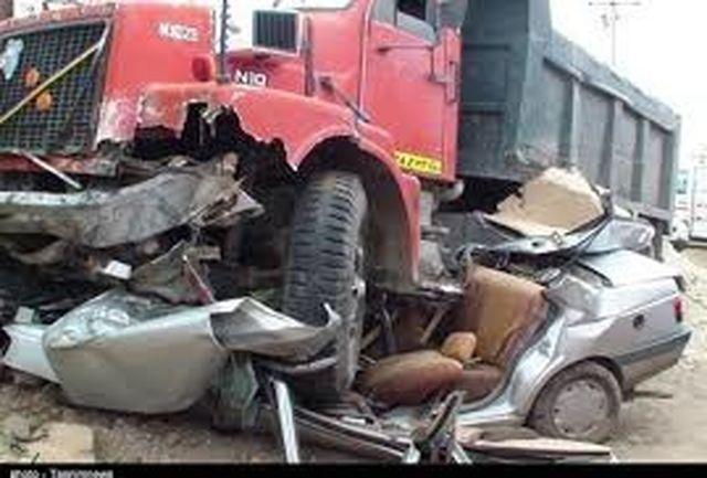 تصادف منجر به مرگ در محور تنگ قیر به سرابله