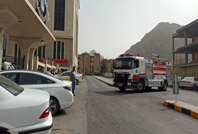بیمارستان میلاد اصفهان دچار حریق شد+ عکس