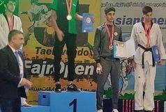 تکواندوکارلرستانی در رقابتهای بین المللی جام فجر نقره ای شد