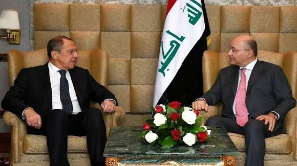 گفتگوی رئیسجمهور عراق و وزیر خارجه روسیه درباره تحولات منطقه