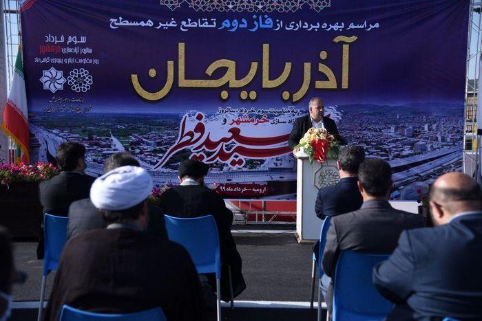پروژه تقاطع آذربایجان تا پایان سال جاری به بهره برداری می رسد