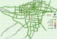 وضعیت ترافیکی معابر بزرگراهی پایتخت در آخرین شنبه تابستان 98