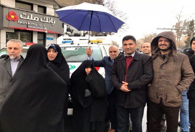 حضور خانواده آیتالله هاشمی در راهیپیمایی 22 بهمن