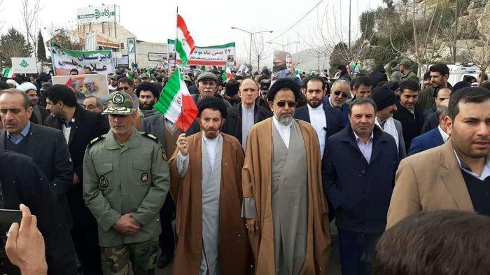حضور وزیر اطلاعات در مراسم راهپیمایی 22 بهمن