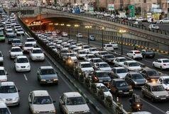 ترافیک سنگین در آزاد راه تهران_کرج