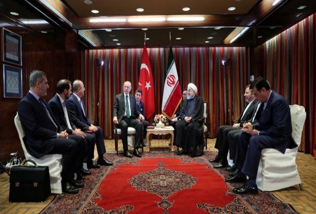 ایران از حضور سرمایه گذاران ترکیه ای استقبال می کند/ در روزهای سخت کنار هم بوده ایم/ اردوغان: برای مقابله با تحریم ها، دست در دست و در کنار ایران خواهیم بود