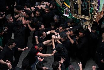 مراسم روز تاسوعای حسینی در روستای هفتهر -یزد