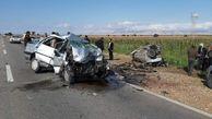 برخورد ۲ خودرو پژو ۴۰۵ در ایلام حادثه آفرید