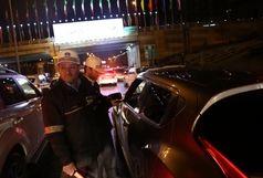 برخورد جدی پلیس راهور تهران با رانندگان متخلف در شبهای نوروزی