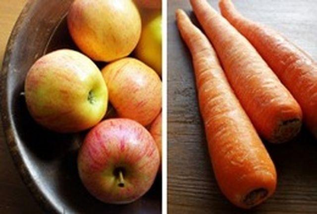 هویج و سیب میتوانند جایگزین مسواک شوند