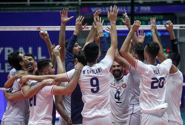 دیدار تیم های والیبال ایران - روسیه