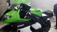 توقیف موتورسیکلت سنگین در بزرگراه مدرس