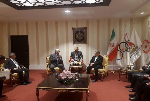 دیدار وزیر جوانان و ورزش عراق با رئیس کمیته ملی المپیک