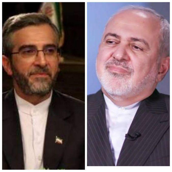 دیدار ظریف و معاون امور بینالملل و دبیر ستاد حقوق بشر قوه قضائیه
