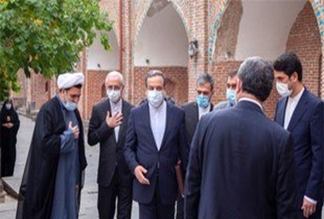 بازدید سید عباس عراقچی از مسجد کبود ایروان