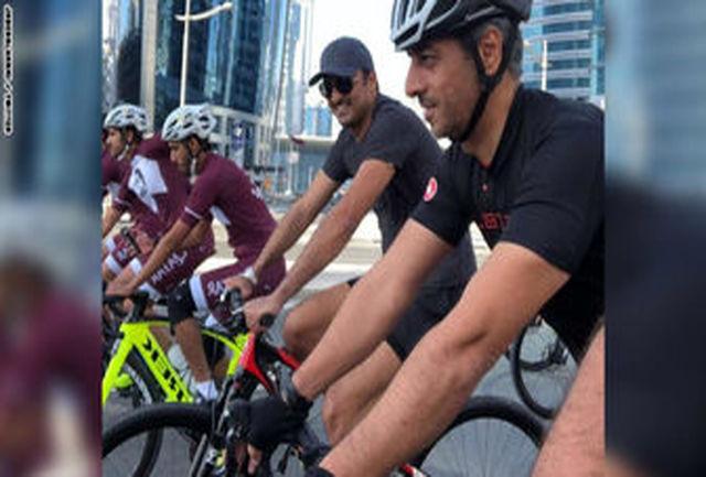 سرگرمی جالب امیر قطر+ عکس
