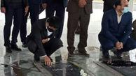 حضور رئیس فدراسیون کشتی بر مزار شهدای گمنام
