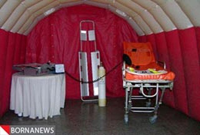 نخستین بیمارستان صحرایی اتوبوس آمبولانسی کشور بهرهبرداری میشود