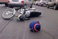 مرگ راکب موتور سیکلت در برخورد با نیسان