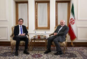 دیدار معاون وزیر امور خارجه ژاپن با محمدجواد ظریف