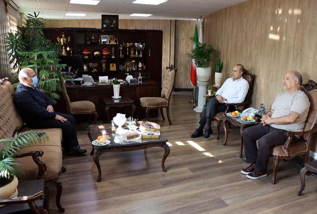 دیدار معاون امور مجلس و حقوقی وزارت ورزش و جوانان با رئیس فدراسیون بسکتبال