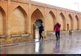 بارش باران از اول فروردین در استان اصفهان