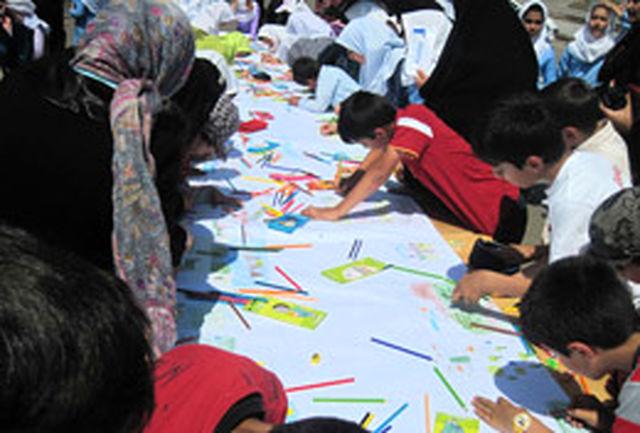 مسابقه نقاشی پارکی کودکان در منطقه آزاد ارس برگزار شد