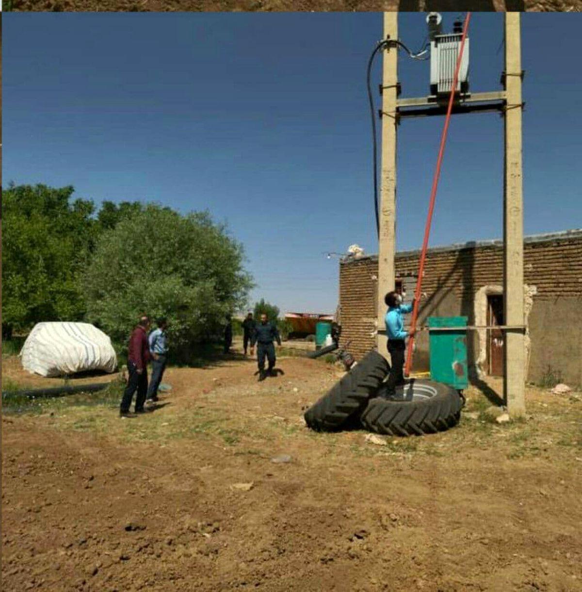 پلمپ و قطع برق ۵ حلقه چاه کشاورزی متخلف در سلسله