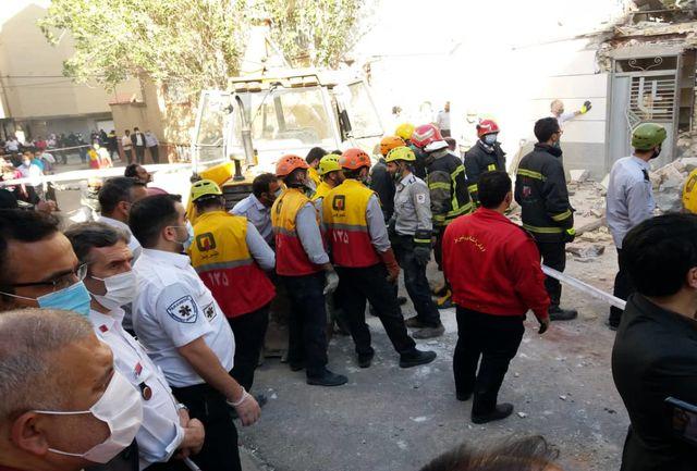 انفجار گاز، ساختمانی در کوی گلکار را تخریب کرد