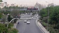 وضعیت ترافیکی معابر بزرگراهی و اصلی تهران در 17 شهریور ماه