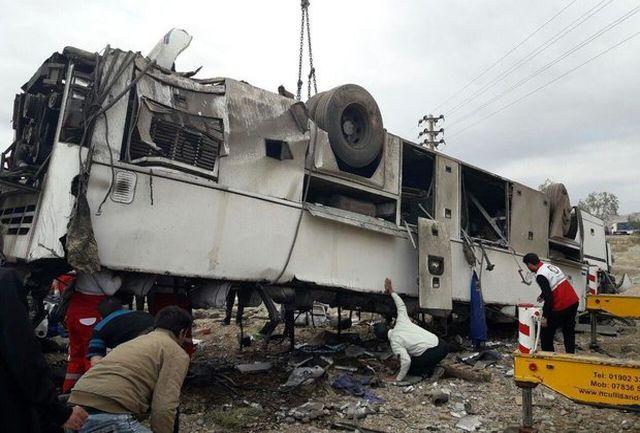 واژگونی اتوبوس در مرودشت/ 5 نفر کشته شدند ؛ 15 نفر مصدوم